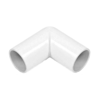 Polypipe Overflow 21.5mm Solvent Weld 90° Knuckle Bend White NS45