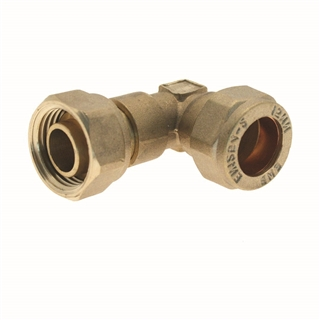 Compression Fitting Bent Tap Connector 15mm x ½""