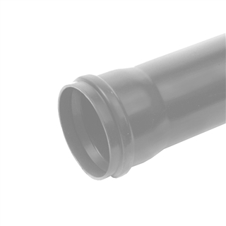 Polypipe Soil & Vent 110mm 3m Single Socket Pipe Grey SP430