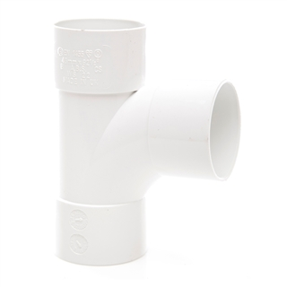 Polypipe Solvent Weld Waste 40mm 92½° Swept Tee White WS22