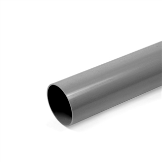 Polypipe Rainwater Round Pipe 68mm 5.5m Grey RR124