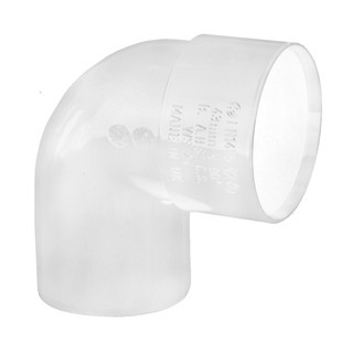 Polypipe Solvent Weld Waste 50mm 92½° Swivel Bend White WS60