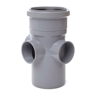 Polypipe Soil & Vent 110mm Boss Pipe Grey SJ454