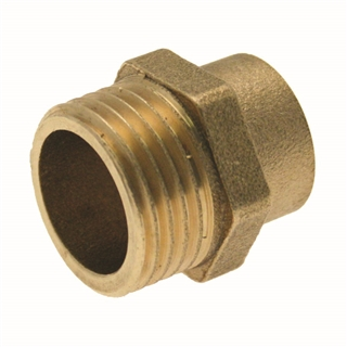 """Solder Ring Fitting Male Adapter 15mm x ½"""""""
