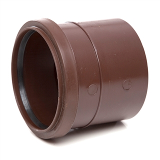 Polypipe Soil & Vent 110mm Single Socket Brown SH43