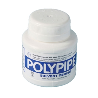 Polypipe Solvent Cement with Brush 125ml BS6209 SC125