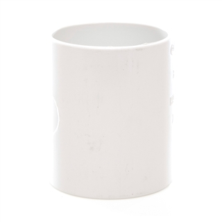 Polypipe Solvent Weld Waste 50mm Straight Coupling White WS58
