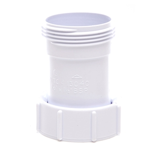 Polypipe Nuflo Waste to Trap Connector Equal 40mm WTC4
