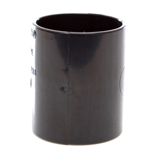 Polypipe Solvent Weld Waste 50mm Straight Coupling Black WS58