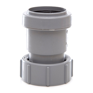 Polypipe Push-Fit Waste 32mm Threaded Coupling FI BSP Grey WP31