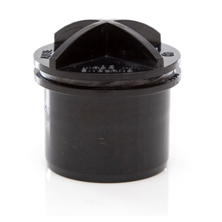 Polypipe Solvent Weld Waste 50mm Screwed Access Plug Black WS72