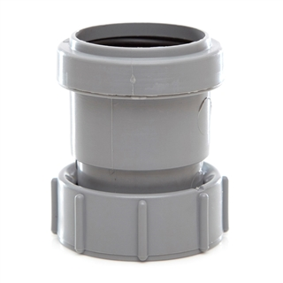 Polypipe Push-Fit Waste 40mm Threaded Coupling FI BSP Grey WP32