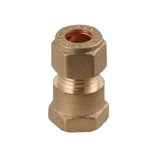 "Compression Fitting MI x C Straight Connector ½"" x 15mm"