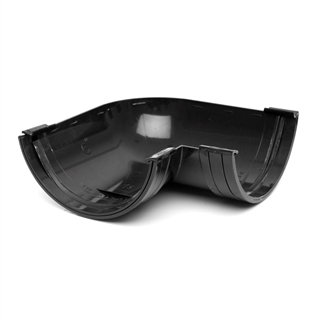 Polypipe Half Round Rainwater 150mm Gutter Angle 90° Black RL603
