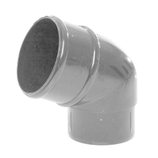Polypipe Rainwater Round Pipe 68mm 112½° Bend Grey RR127