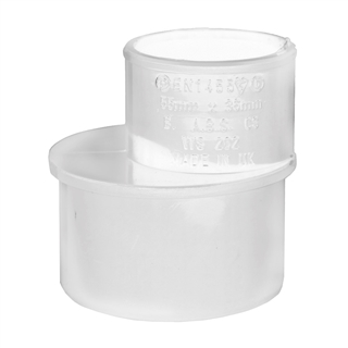 Polypipe Solvent Weld Waste 50mm x 40mm Reducer White WS59