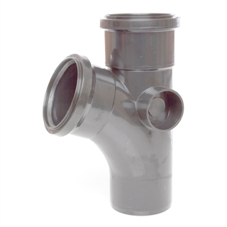 Polypipe Soil & Vent 110mm 135° Single Branch Grey ST404