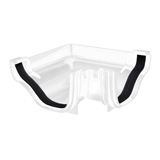 Polypipe Ogee Gutter 130mm x 70mm External Angle 90° White ROG03