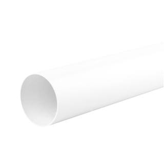 Polypipe Soil & Vent 110mm 3m Plain Ended Pipe White P430