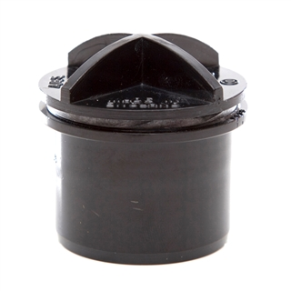 Polypipe Solvent Weld Waste 32mm Screwed Access Plug Black WS29