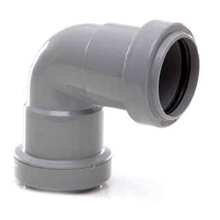 Polypipe Push-Fit Waste 32mm 90° Knuckle Bend Grey WP15