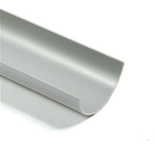 Polypipe Half Round Rainwater 75mm 2m Length Gutter Grey RM300