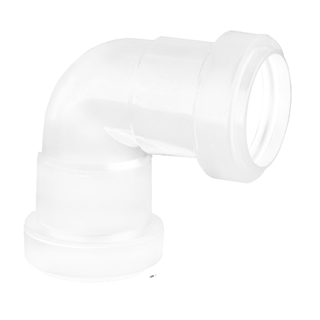 Polypipe Push-Fit Waste 32mm 90° Knuckle Bend White WP15