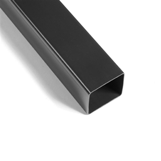 Polypipe Square Rainwater 65mm Downpipe 5.5m Black RS224