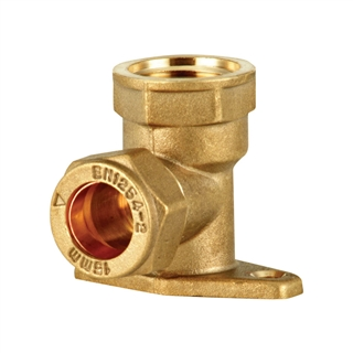 """Compression Fitting Wall Plate Elbow ½"""" x 15mm"""
