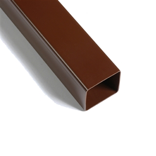 Polypipe Square Rainwater 65mm Downpipe 5.5m Brown RS224