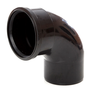 Polypipe Soil & Vent 110mm 92½° Single Socket Bend Black SB409
