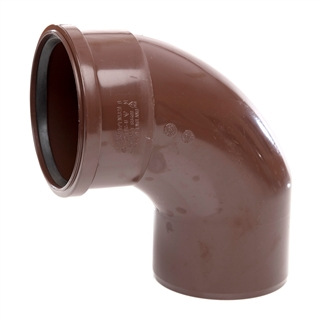 Polypipe Soil & Vent 110mm 92½° Single Socket Bend Brown SB409