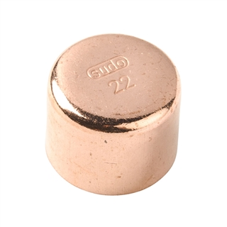 Endfeed Fitting End Cap 22mm