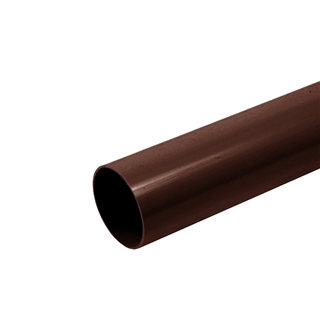 Polypipe Rainwater Round Pipe 68mm 5.5m Brown RR124