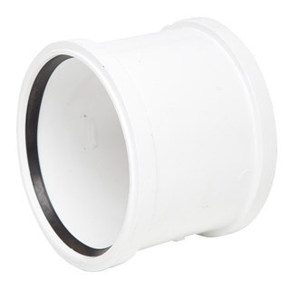Polypipe Soil & Vent 110mm Double Socket White SH44