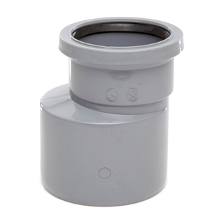 Polypipe Soil & Vent 110mm Reducer to 82mm Soil Grey SD34