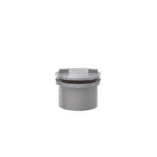 Polypipe Push-Fit Waste 40mm Screwed Access Plug Grey WP44