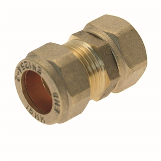 Compression Fitting Straight Tap Connector 22mm x ¾""