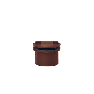 Polypipe Push-Fit Waste 40mm Screwed Access Plug Brown WP44