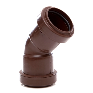 Polypipe Push-Fit Waste 32mm 45° Obtuse Bend Brown WP17