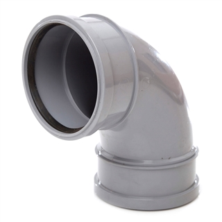 Polypipe Soil & Vent 110mm 92½° Double Socket Bend Grey SB417