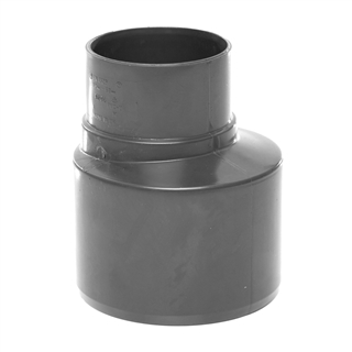 Polypipe Soil & Vent 110mm Socket Reducer to 68mm Rainwater Grey SD46