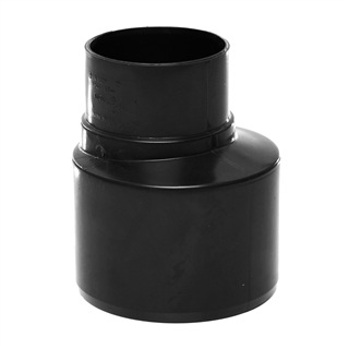 Polypipe Soil & Vent 110mm Socket Reducer to 68mm Rainwater Black SD46
