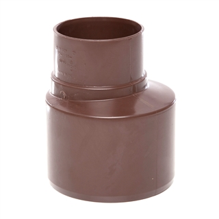 Polypipe Soil & Vent 110mm Socket Reducer to 68mm Rainwater Brown SD46
