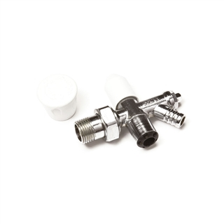Cosmos 15mm Wheelhead and Lockshield Radiator Valve Pack with Drain Off