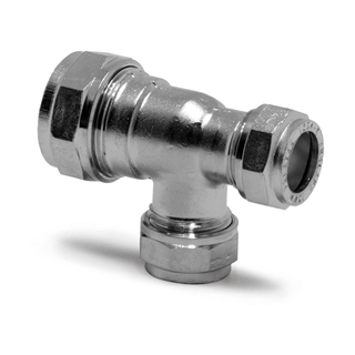 Prestex Compression Fitting 22mm x 15mm x 15mm Tee Reduced One End and Branch
