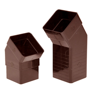 Polypipe Square Rainwater 65mm Adjustable Offset 25mm to 67mm Brown RS237