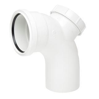 Polypipe Soil & Vent 110mm 92½° Single Socket Access Bend White SB413