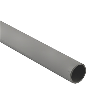 Polypipe Overflow 21.5mm Push-fit 3m Pipe Grey VP43