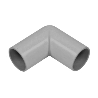 Polypipe Overflow 21.5mm Push-fit 90° Knuckle Bend Grey VP45